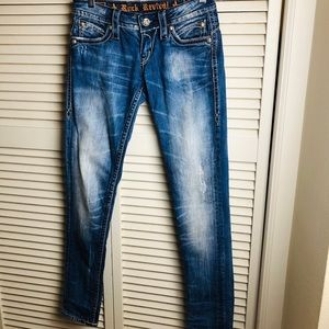 ROCK REVIVAL/JASMINE SKINNY/DISTRESSED JEAN